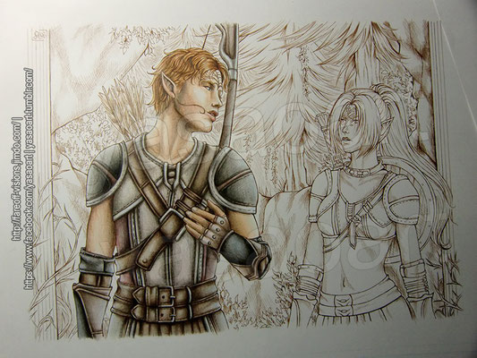 Adding the remaining parts of his armor, his quiver as well as his bow – and with that, Tamlen was finished (for now).