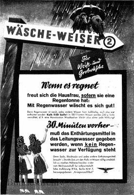 Plakat Wäscheweiser Nr. 2, 1942, Idee: Fritz Pauli, Ausführung: K. Wieschala. Werben und Verkaufen, 1942, H. 8.