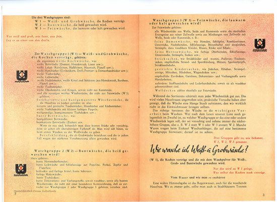 Zum Vergleich: W1, 2, 3, gedruckt,  Innenseite 2. Waschfibel, 1940