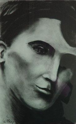 Portrait homme fusain (30 x 60 cm)