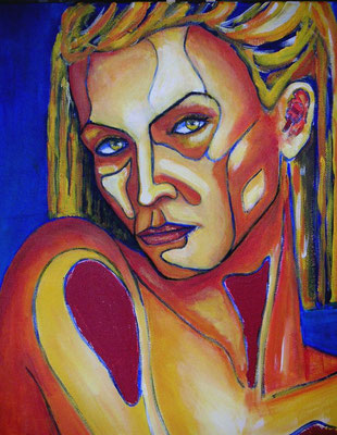 Défi : peinture acrylique sur toile 38 x 46 cm