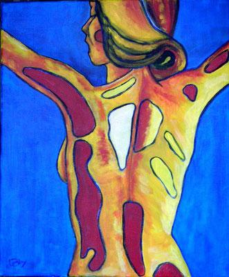 Victoire : peinture acrylique sur toile 38 x 46 cm