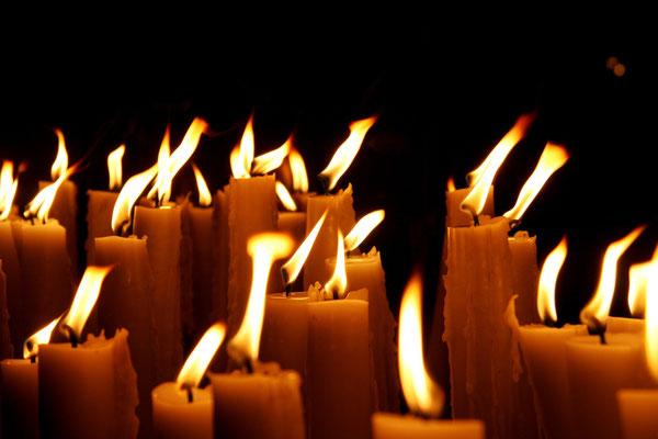 unsere Kerzen - unser Gebet