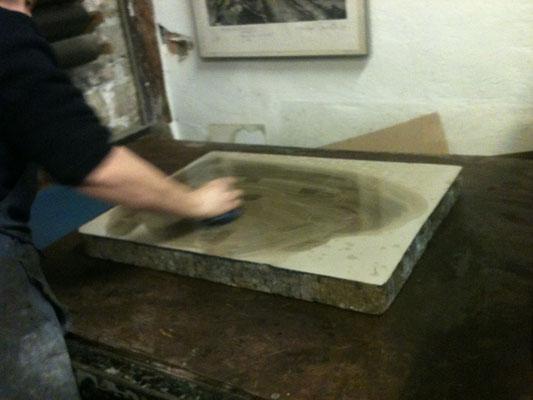 La préparation de la pierre