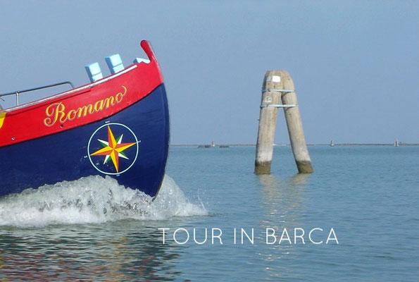 tour in barca, Venezia barca, escursioni in barca Venezia, bragozzo, motoscafo Venezia
