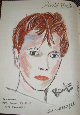 David Bowie –Skizze Ashes to Ashes