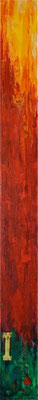 ADVENT - Aufstrahlendes Licht (© Annette Palder, 2012) Das Foto zeigt einen Ausschnitt, nämlich EINE von vier Leinwänden, aus denen das Werk besteht - den ersten Advent. (Die vier Leinwände sind mit korrodiertem Stahl verbunden.)  Fortsetzung folgt… ;o)