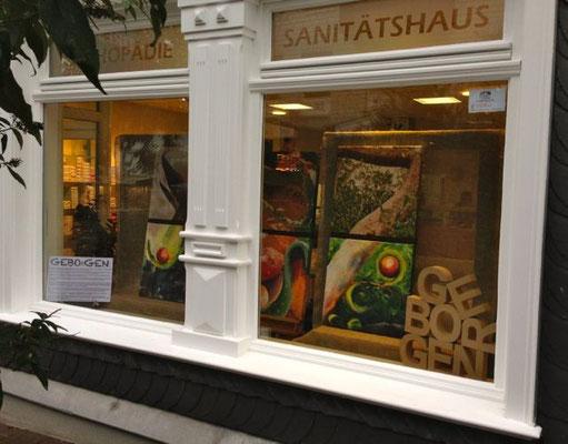 Das Schaufenster von Dreschers' mit meinen Werken
