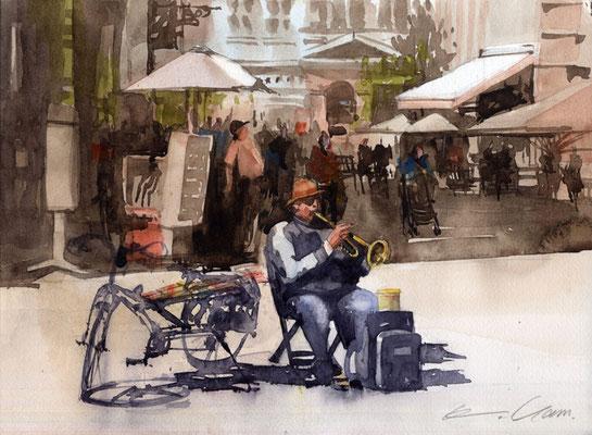 street musician in Strasbourg