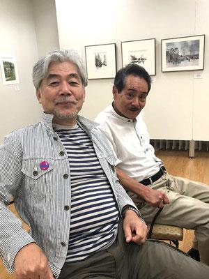 絵の仲間、古川さんと