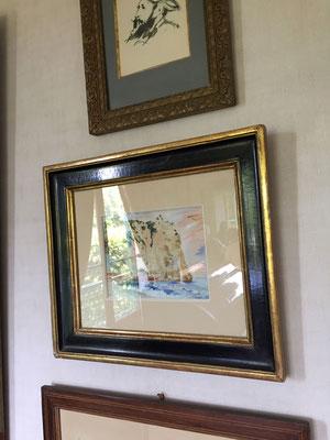 モネの家、エトルタの絵も