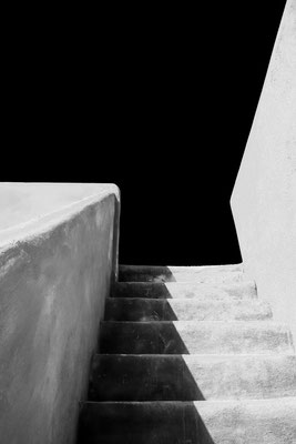 Stairs to roof-pool at Finca Ibiza