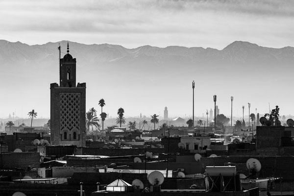 Marrakech with Atlas mountain range