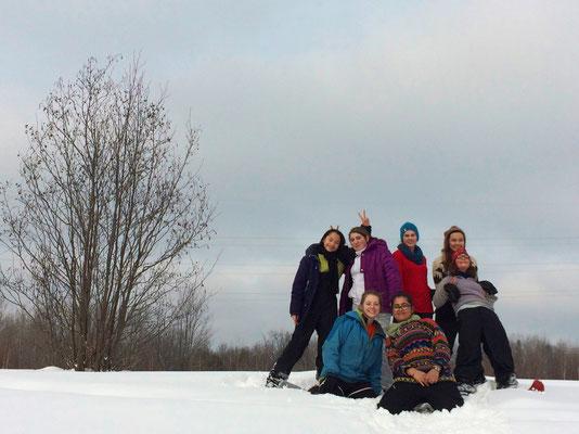 Les guides en camp d'hiver