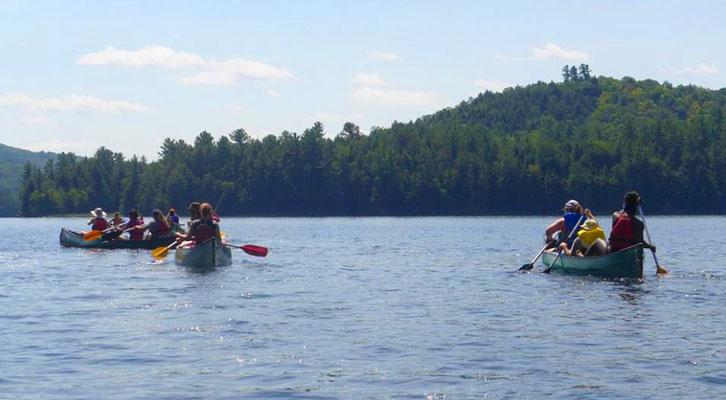 Camp volant en canot