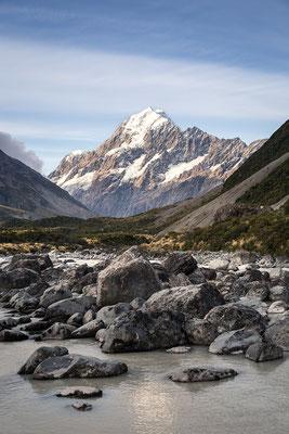 Aoraki/Mt Cook der vielleicht schönste, aber auf jeden Fall höchste Berg Neuseelands.