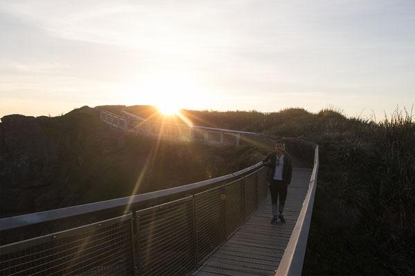 Nach wie vor spaktakulär: An den Sonnenuntergängen an der Westküste kann ich mich einfach nicht sattsehen.