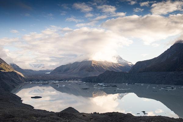 Tasman Glacier im Aoraki / Mount Cook Nationalpark, Neuseeland (c) Salomé Weber