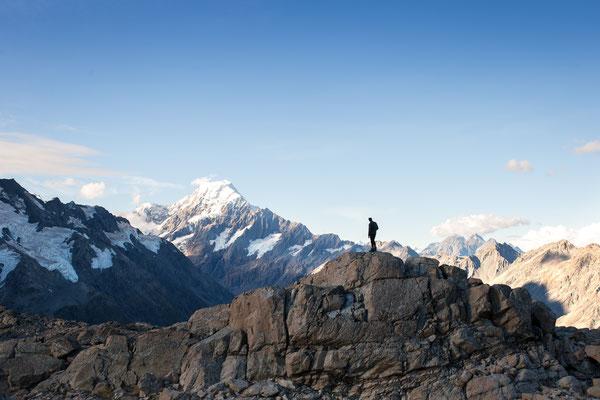Blick auf Aoraki / Mount Cook (c) Salomé Weber