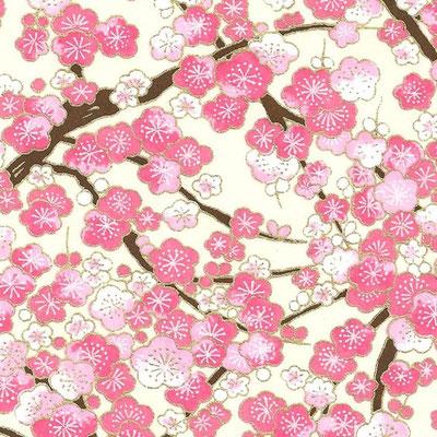 Papier washi Sakura fleur de cerisier rose et blanc