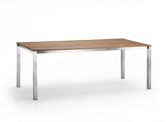 Bellvue mit Tischplatte 20mm Massivholz Eiche
