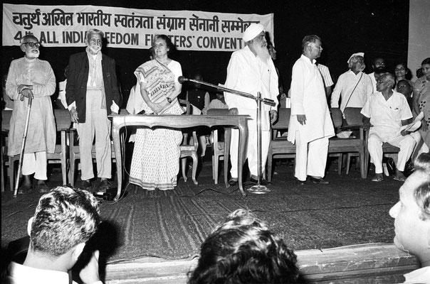 Sant Kirpal Singh - Indira Gandhi - Pratap Singh- India Freedom Fighters Convention 1973