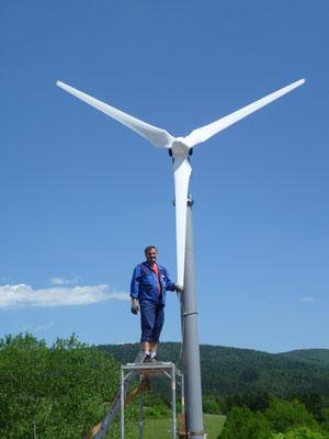 Referenzanlage Antrais Windturbine