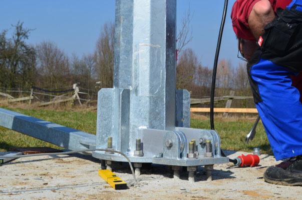 Windmast für Antaris Braun Windanlage