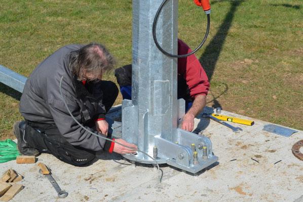 Befestigung / Montage Mast für Antaris / Braun Windmast
