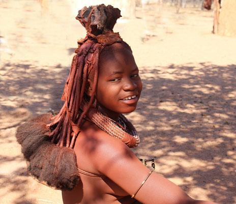 Junge Frau in Namibia