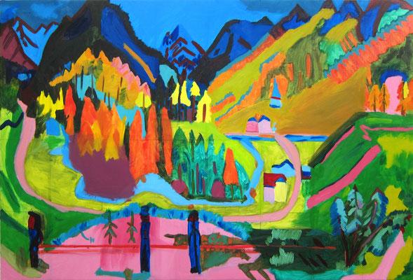 Aaron »Ernst Ludwig Kirchner, Sertigtal« 23.7.2020