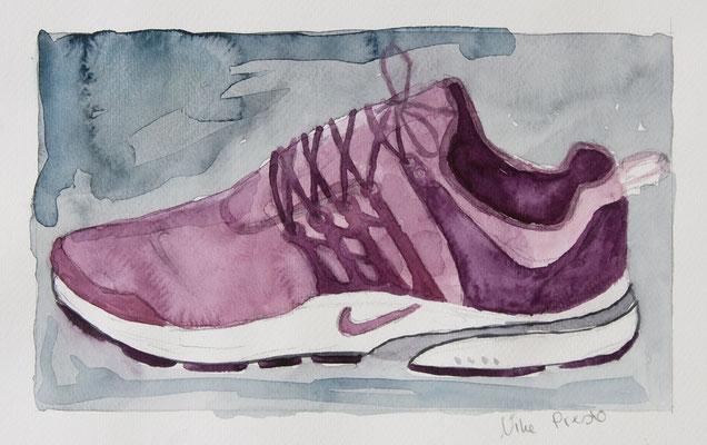 Nike Presto, 2018, Bleistift, Aquarellfarbe