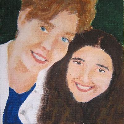Lisa M. »Les Sœurs« ca.7 x 7 cm 20.8.2020