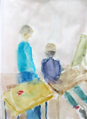 Beate »Personnage im Atelier« 16.7.2020