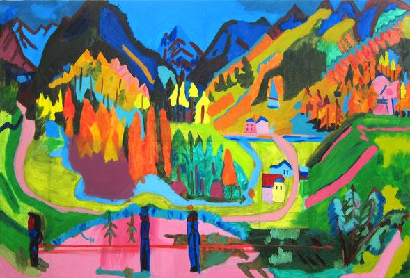 Aaron »Ernst Ludwig Kirchner, Sertigtal« 27.8.2020
