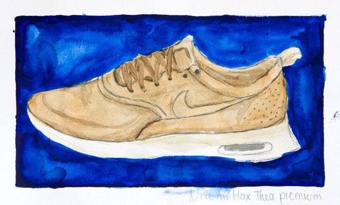Nike Air Max Thea Premium, 2018, Bleistift, Aquarellfarbe