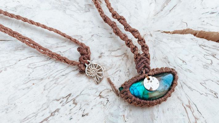 GoldenBrownLabradorite - necklace