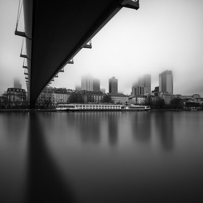 study | skyline in fog | frankfurt | germany 2015