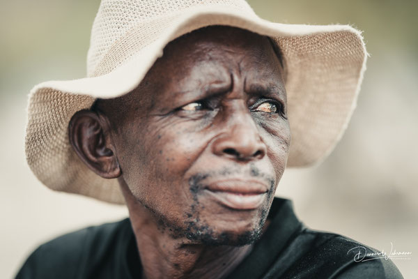 himba man epupa falls, faces of namibia