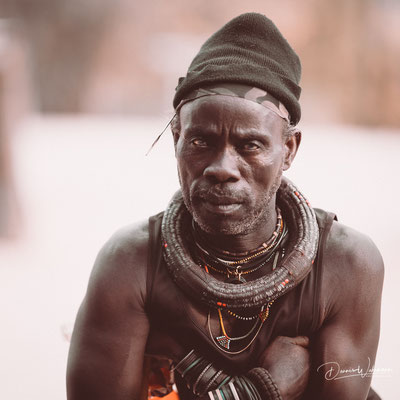 himba chief epupa falls, faces of namibia