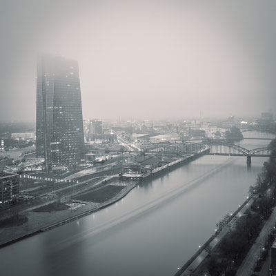 european central bank | groping in fog | frankfurt | germany 2015