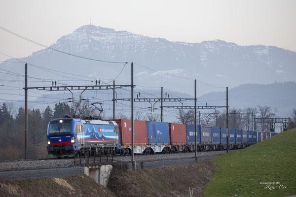"""SBB Cargo International, BR 193 529 """"Neckar"""", Sins (27.02.2021) ©pannerrail.com"""