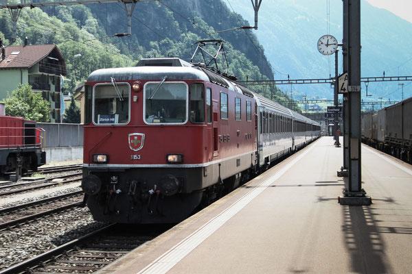 Re 4/4, 11153, Erstfeld (03.08.2013) ©pannerrail.com