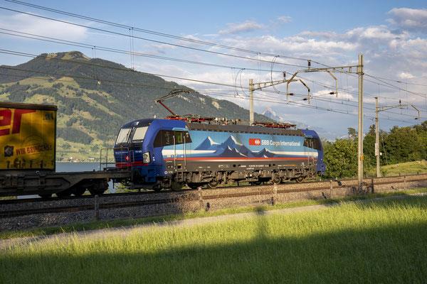 """SBB Cargo International, BR 193 531 """"Reuss"""", Immensee (19.07.2020) ©pannerrail.com"""