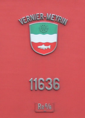 Re 6/6 Vernier Gemeindewappen ©pannerrail.com