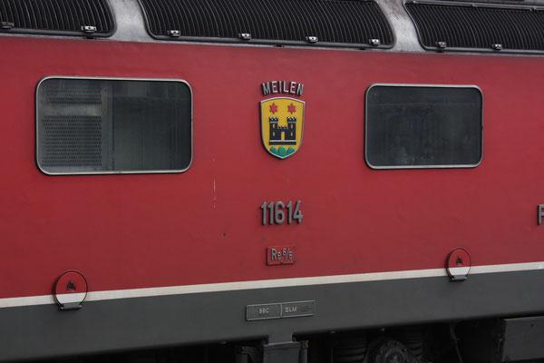 """Re 6/6 11614 """"Meilen"""", Rotkreuz (04.10.2010) ©pannerrail.com"""