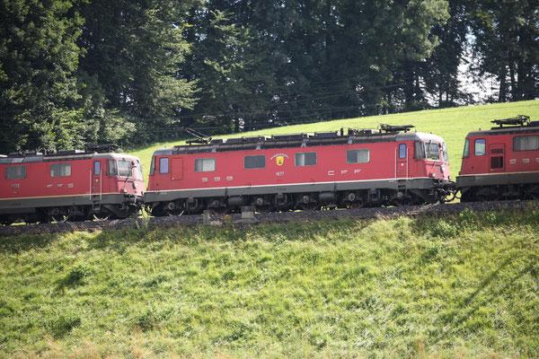 """Re 6/6 11677 """"Neuhausen am Rheinfall"""", Rotkreuz (07.07.2012) ©pannerrail.com"""