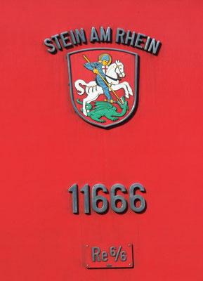 Re 6/6 Stein am Rhein Gemeindewappen ©pannerrail.com