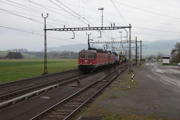 """Re 6/6 11636 """"Vernier-Meyrin"""", Oberrüti (16.04.2012) ©pannerrail.com"""