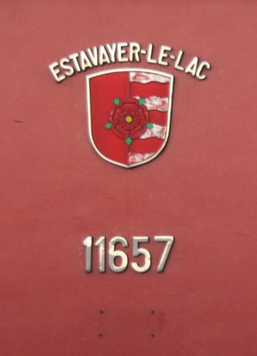 Re 6/6 Estavayer-le-lac Gemeindewappen ©pannerrail.com
